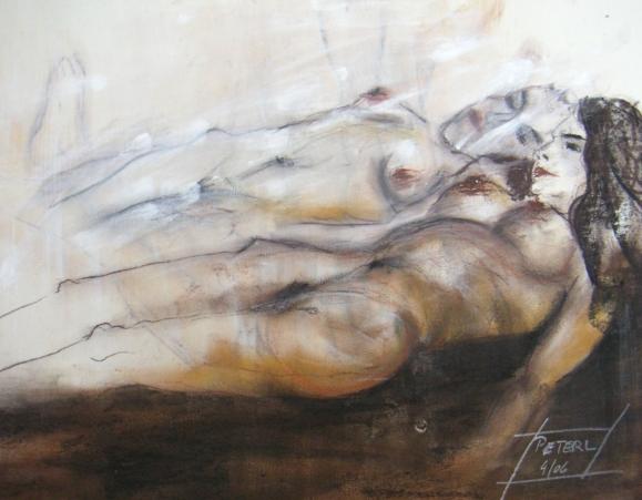 Verträumt  100 x 100 cm, Acryl