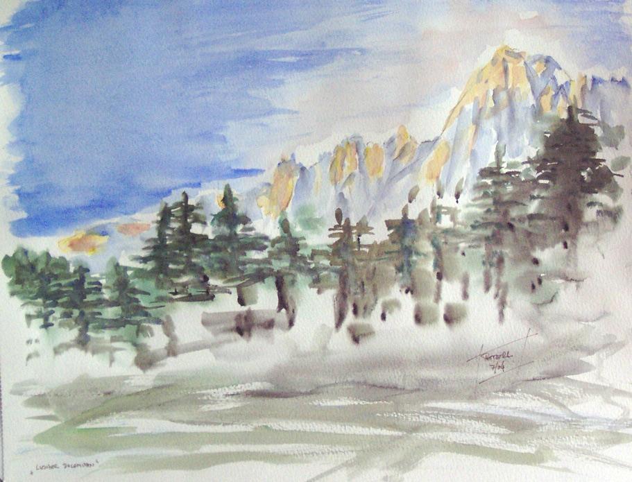 Lienzer Dolomiten  100 x 100 cm, Acryl