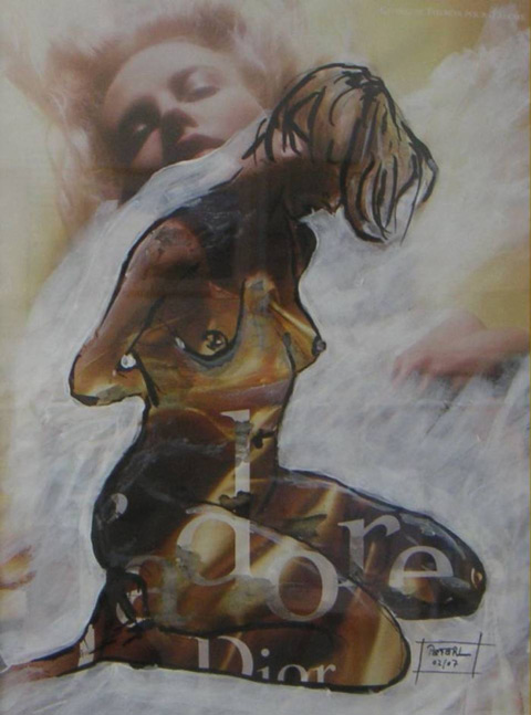 Duftnote  100 x 100 cm, Acryl