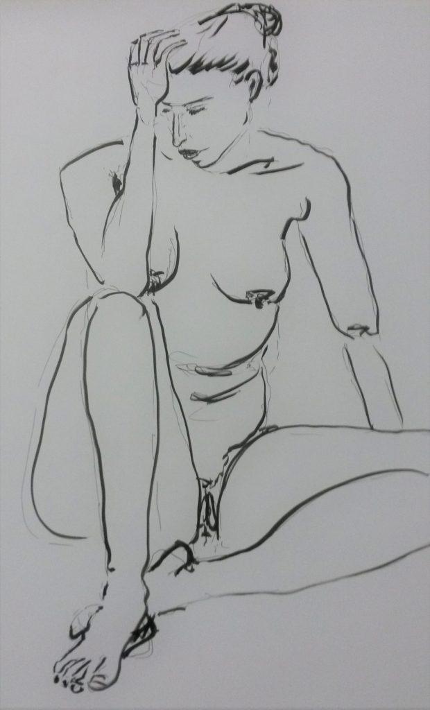 Akt 2  50 x 70 cm, Acryl