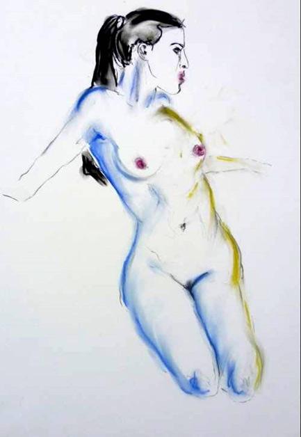Skizze  50 x 70 cm, Acryl