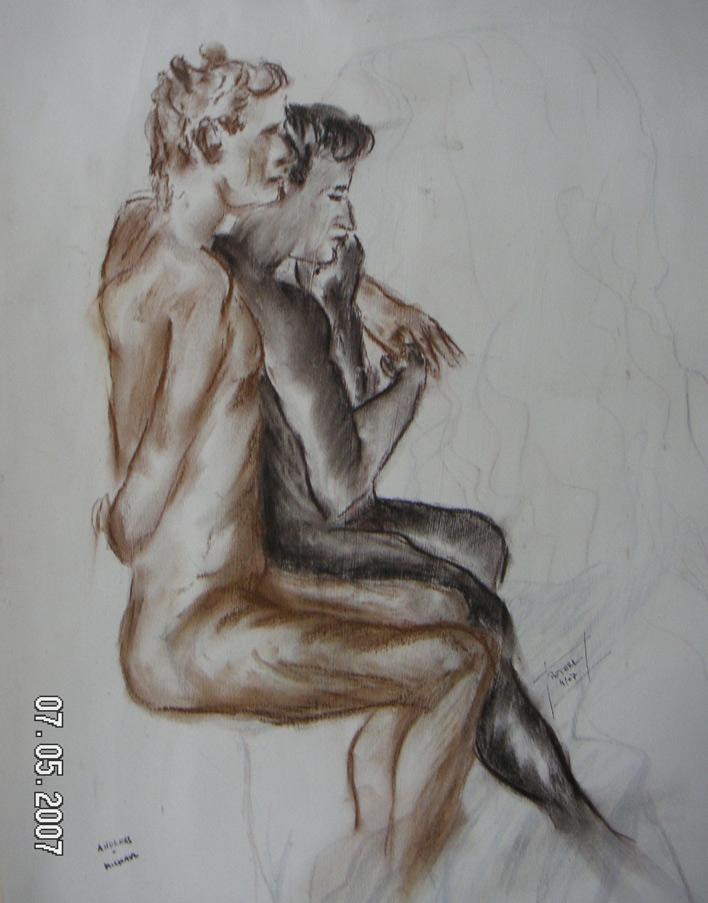 Andreas und Michael  50 x 70 cm, Acryl