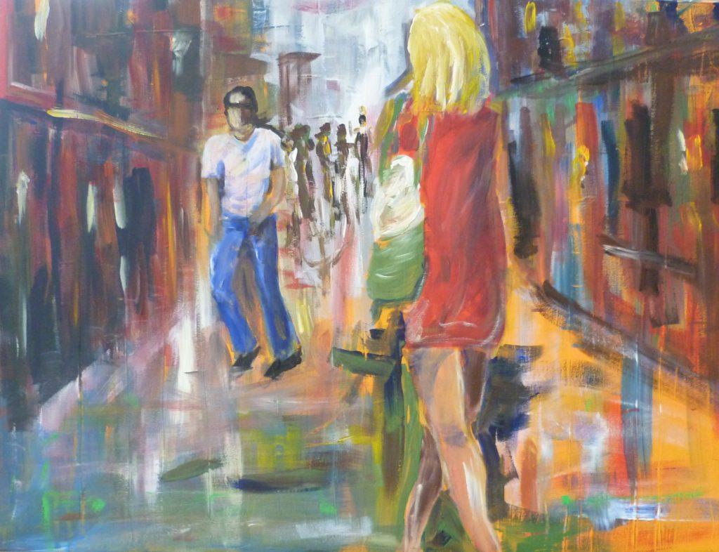 Begegnung 60 x 80 cm, Acryl