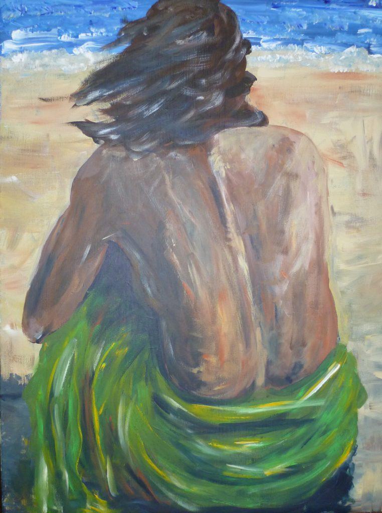 Sehnsucht Meer  60 x 80 cm, Acryl