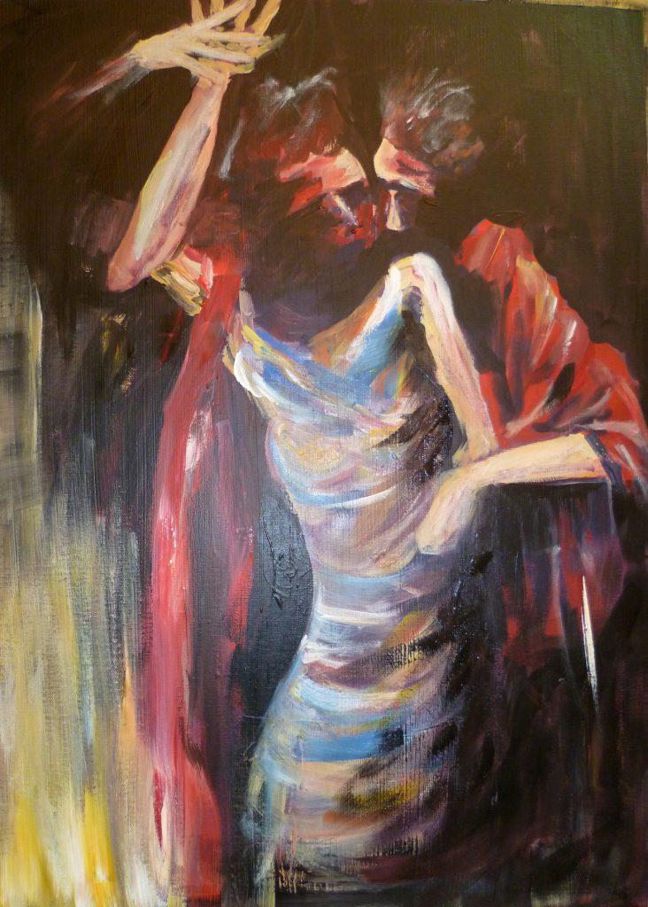 Der letzte Tango  100 x 100 cm, Acryl