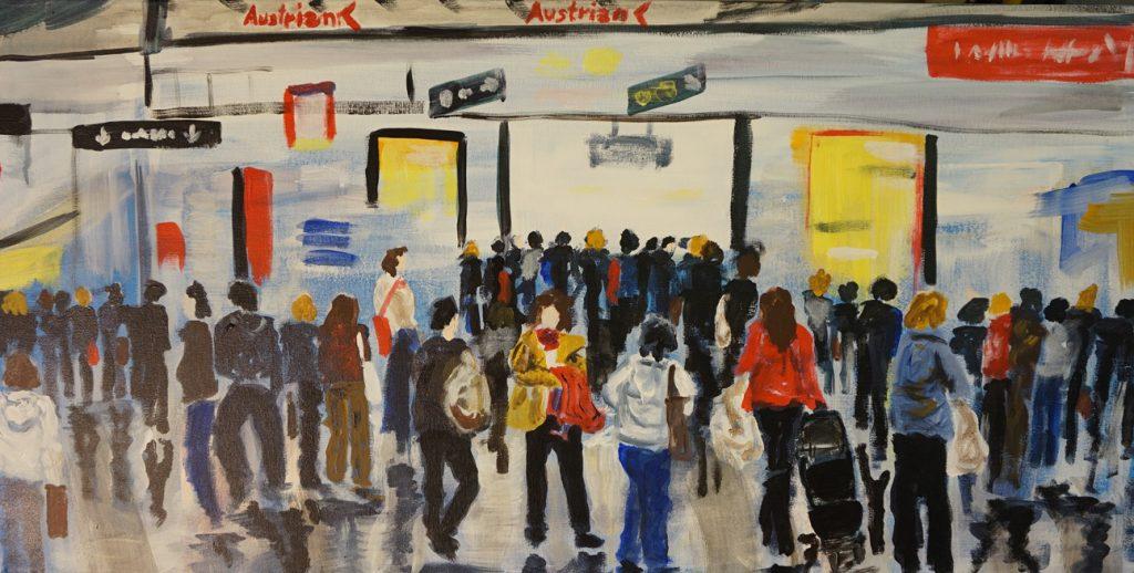 Flughafen 100 x 100 cm, Acryl