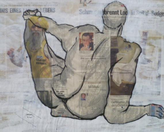 Gesunder Mensch 100 x 100 cm, Acryl