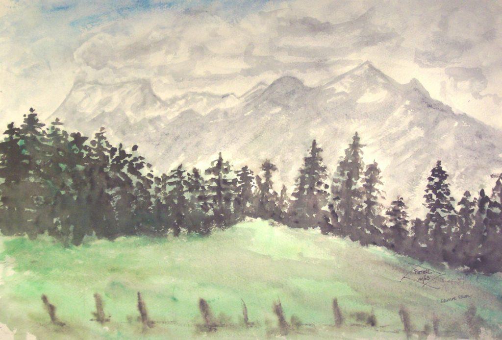 Großer Priel  100 x 100 cm, Acryl