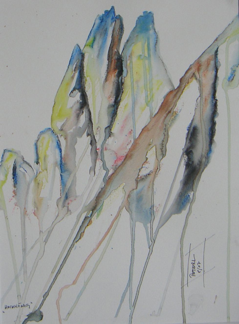 Hochkönig  200 x 200 cm, Acryl