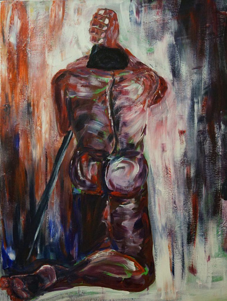 Leiden-schaft  100 x 100 cm, Acryl