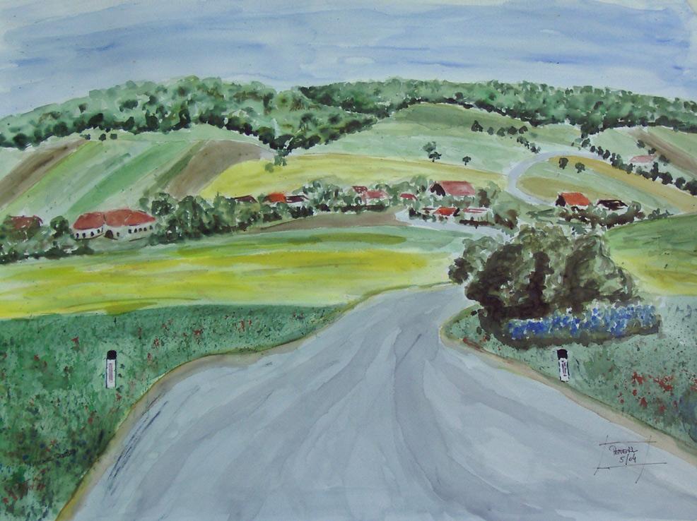 Michelstetten  100 x 100 cm, Acryl