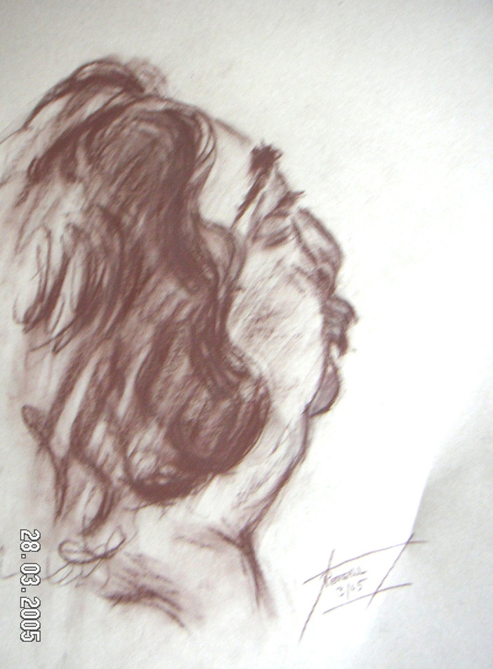 Portrait Sergio  200 x 200 cm, Acryl