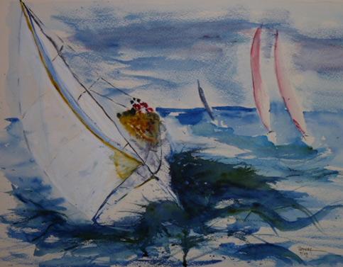 Segeltörn  100 x 100 cm, Acryl