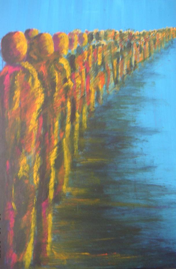 Wartezeit 100 x 100 cm, Acryl