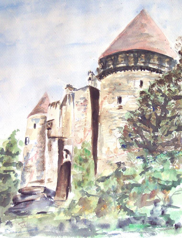 Wasserschloss  100 x 100 cm, Acryl