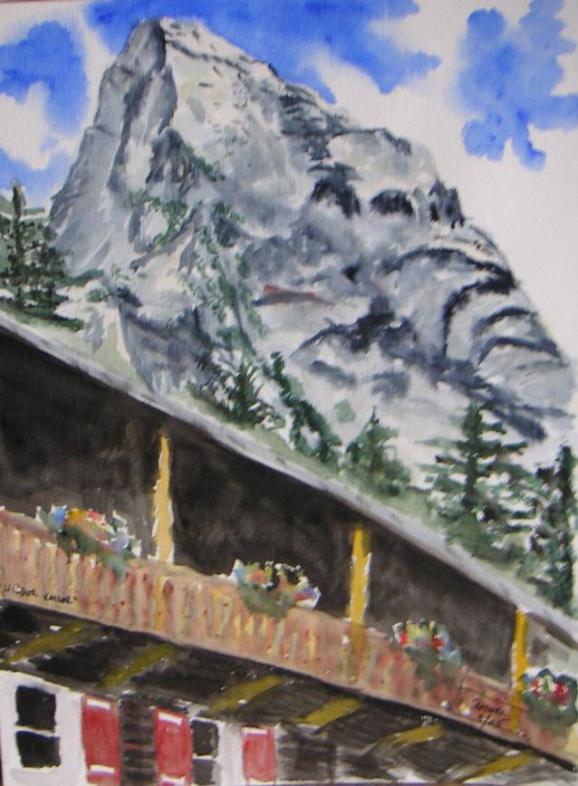 Wilder Kaiser – Hans Bergerhaus  100 x 100 cm, Acryl
