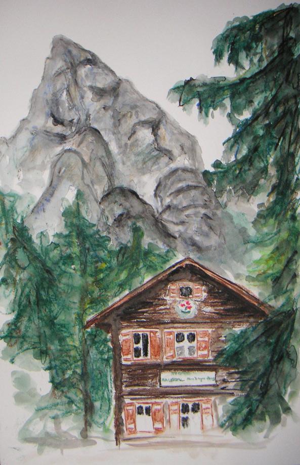 Wilder Kaiser – Kleiner Halt  100 x 100 cm, Acryl