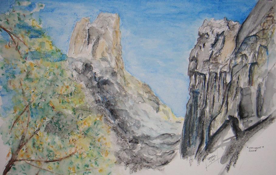 Wilder Kaiser – Steinerne Rinne 100 x 100 cm, Acryl