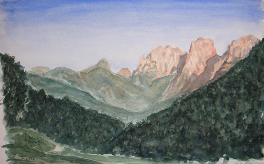 Wilder Kaiser – Kaisertal 100 x 100 cm, Acryl