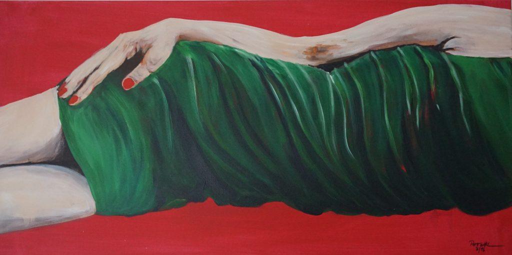 Das kleine Grüne…  100 x 100 cm, Acryl
