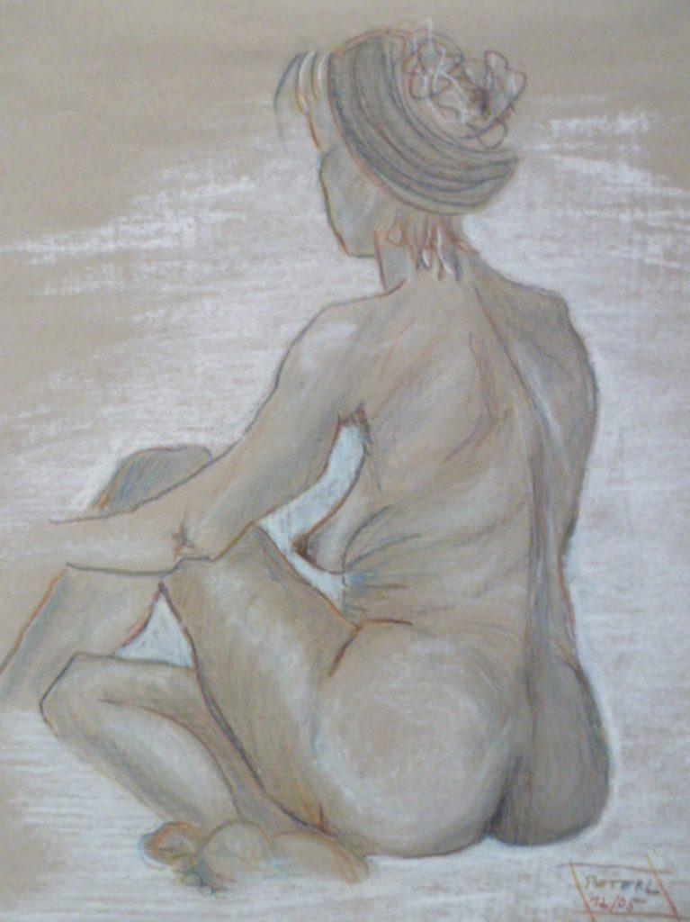 Skizze  100 x 100 cm, Acryl