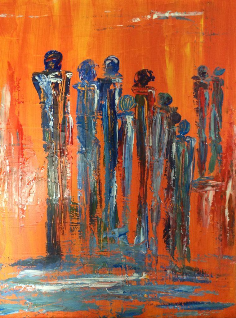 Menschen 1 60 x 80 cm, Acryl