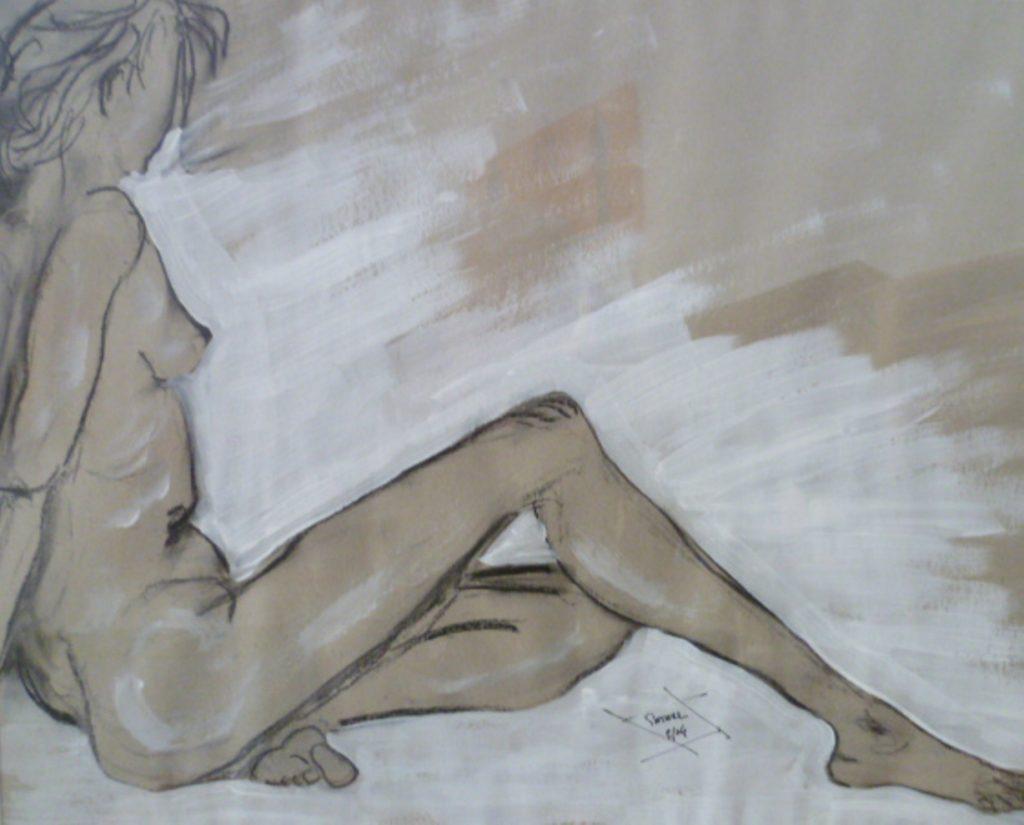 Akt  50 x 70 cm, Mischtechnik, 2004