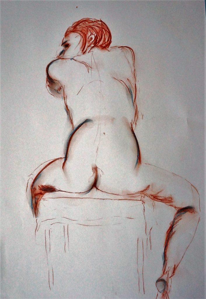 Skizze  50 x 70 cm, Kreide