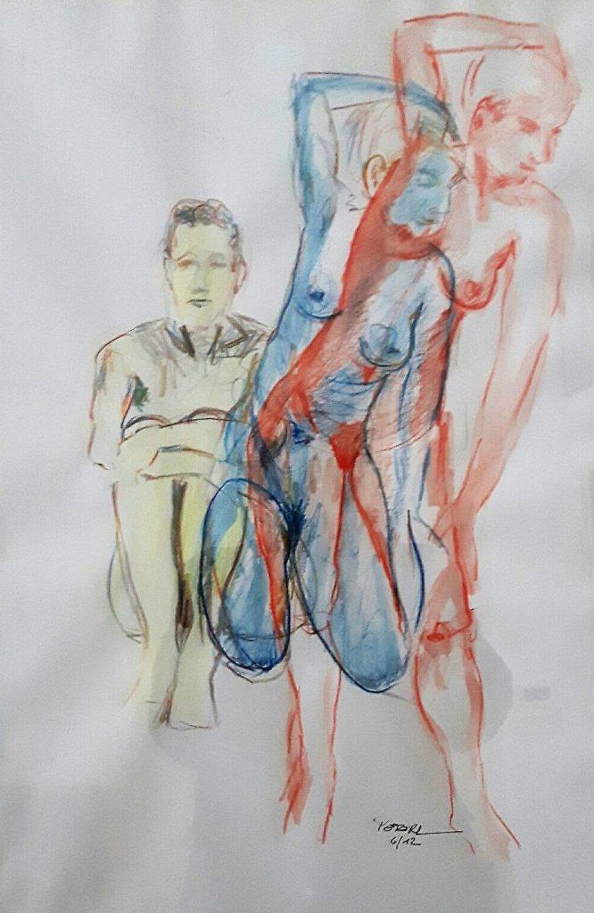 Skizze 50 x 70 cm, Kreide, 2012