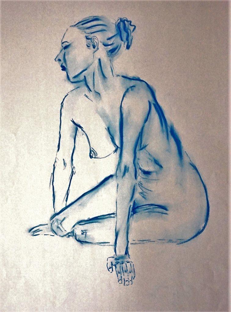 Akt  50 x 70 cm, Kreide, 2014
