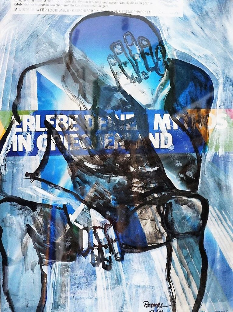 Übermalung, Notlage 50 x 60 cm, Mischtechnik, 2011