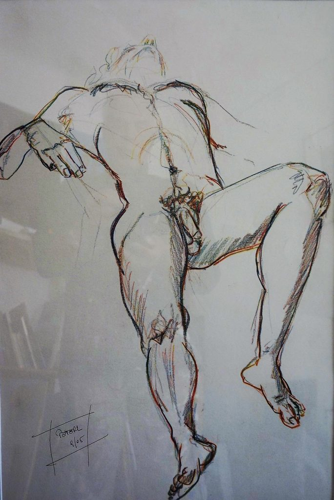 Skizze, Akt  50 x 70 cm, Kreide, 2007