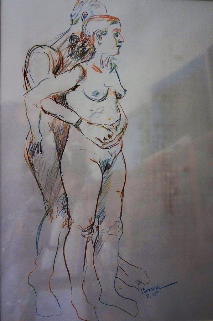 Skizze, Akt  50 x 70 cm, Kreide, 2014