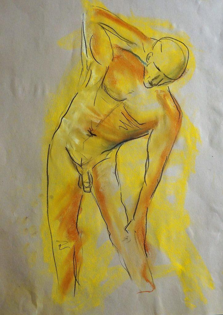 Skizze, Akt  50 x 70 cm, Kreide, 2015