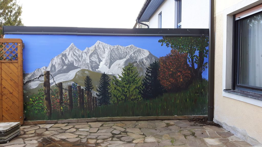 Grimming 400 x 200 cm,Acryl ,Wandfarbe,2009