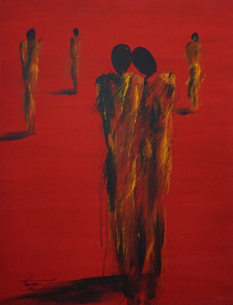 Menschen 4   60 x 80 cm, Acryl, 2008