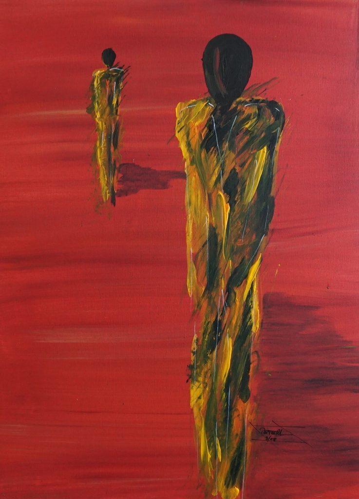 Menschen 5 60 x 80 cm, Acryl, 2008