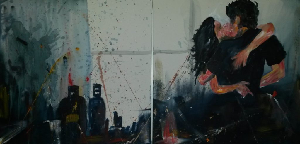 Verliebt  2x50 x 50 cm, Acryl, 2014