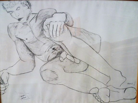 Adonis 100 x 80 cm, Bleistift, 2004