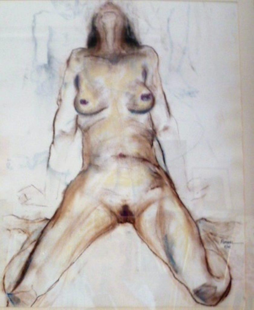Erwartung 50 x 70 cm,Kreide, Mischtechnik, 2003