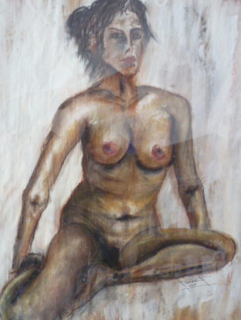 Akt, Mischtechnik  90×70, 2008