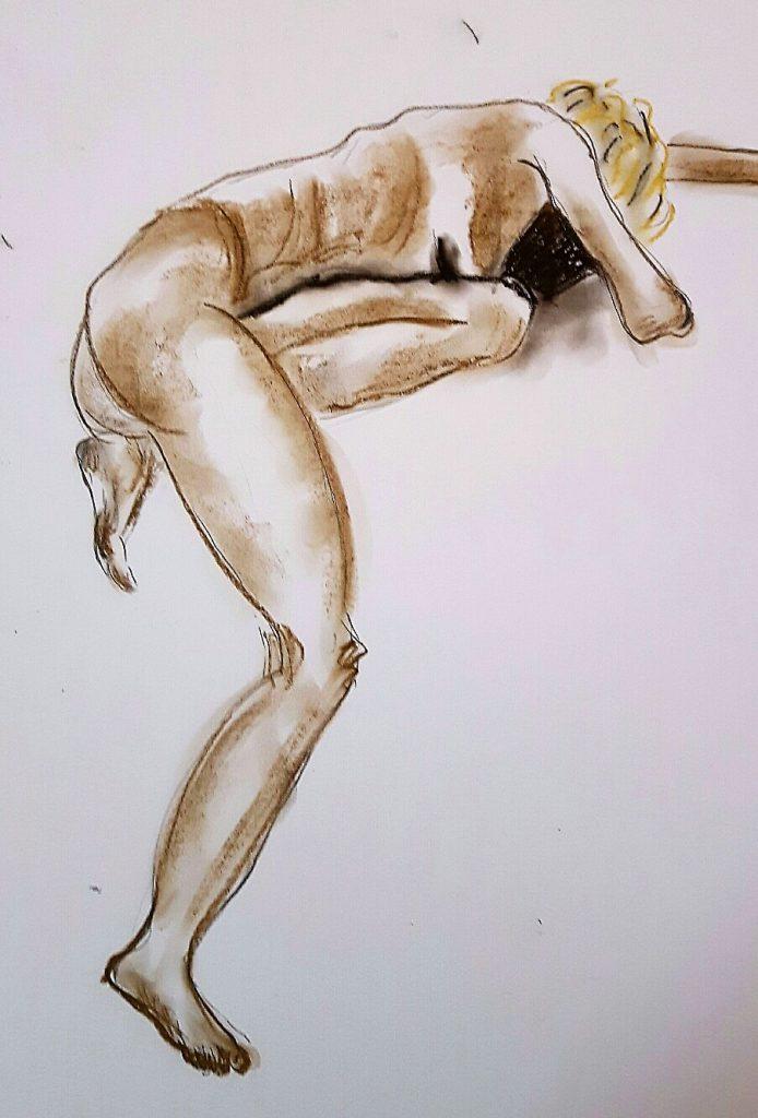 Aktskizze, 40 x 50 cm, Kreide